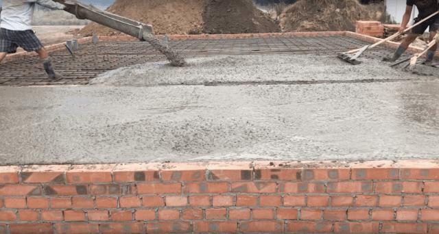 заливка фундамента для двухэтажного дома из бетона М200