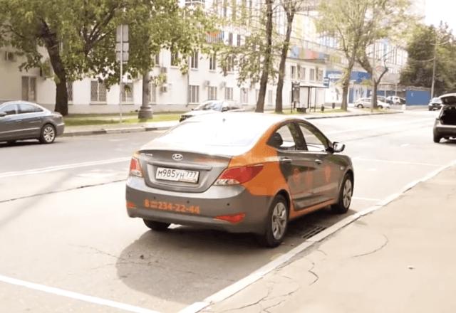 каршеринг машины в городе