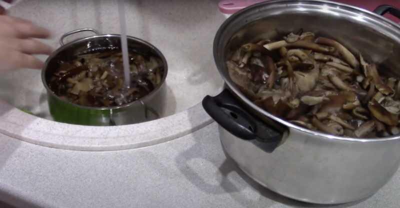 промойте грибы перед заморозкой