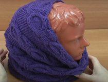 Связать снуд или шарф восьмерку своими руками, схема