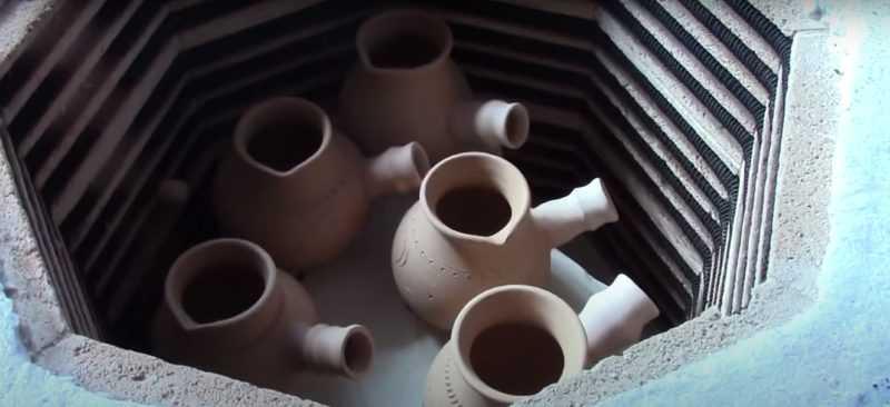 Как произвести обжиг глины