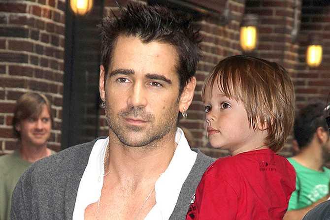 Колин Фаррелл с ребенком Ким Борденейв