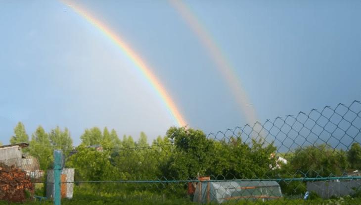 Принцип образования двойной радуги